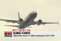 Airlines flew record 4.1 billion passengers in 2017: IATA