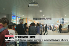South Korean tourists stranded in quake-hit Japan returning home