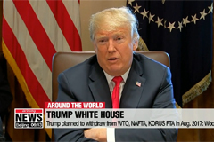 Trump planned to withdraw from WTO, NAFTA, KORUS FTA in Aug. 2017: Woodward