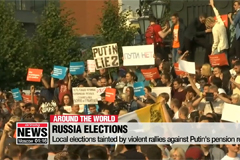 Russia's local elections tainted by violent demonstrations against Putin's pension reform