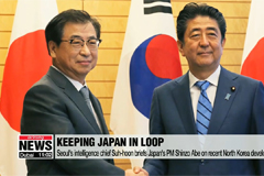 Seoul's intelligence chief briefs Japan's PM Shinzo Abe on recent North Korea developments