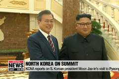 KCNA reports on S. Korean president Moon Jae-in's visit to Pyeongyang