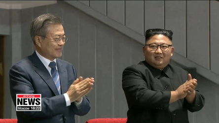President Moon Jae-in speaks to N. Korean audience of 150,000