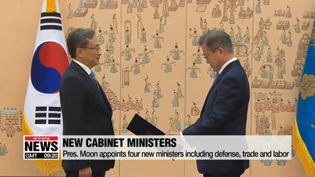 Pres. Moon's picks for top posts sworn in on Friday