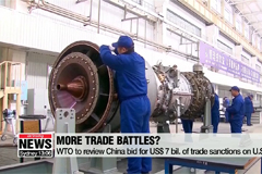 WTO to review China bid for 7-billion dollars of trade sanctions on U.S.