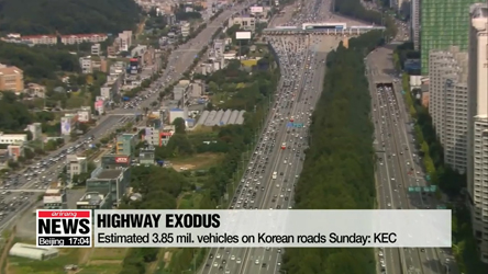 Korean highways jammed amid Chuseok holiday exodus