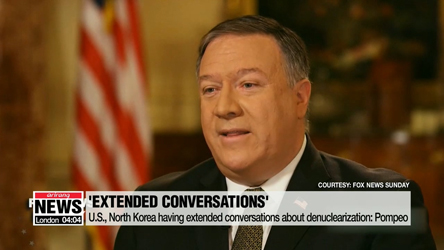 U.S., North Korea having extended conversations about denuclearization: Pompeo
