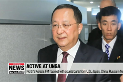 North Korea's top diplomat engages in active diplomacy at UN