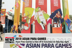Asian Para Games to kick off in Indonesia