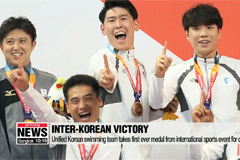 Unified Korean swimming team wins bronze medal at Asian Para Games