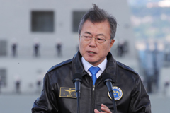 President Moon attends Int'l Fleet Review in Jeju