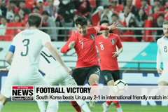 South Korea beats Uruguay 2-1 in international friendly match in Seoul
