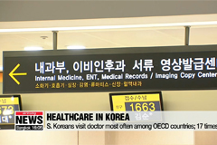 S. Koreans visit doctor most often among OECD countries; 17 times/year