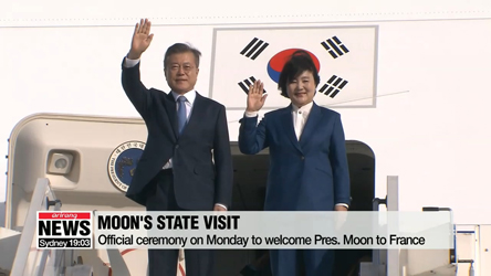 Pres. Moon to ask French counterpart on considering lift of economic sacntions on N. Korea during summit Monday