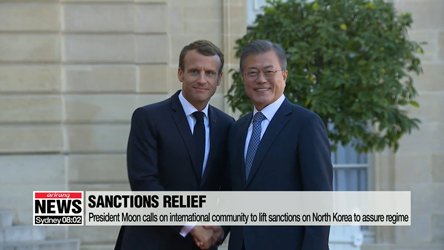 President Moon calls on international community to lift sanctions on North Korea to assure regime