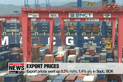 Korea's export and import prices go up in September
