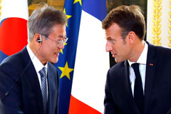 Presidents Moon and Macron to upgrade bilateral relations to another level