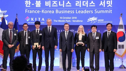 Korea-France agree on fostering business relations in three diffe···