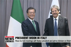 1016  President Moon to discuss North Korea with Italian political leaders as well Pope Francis
