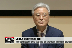 South Korea's ambassador to the U.S. says Seoul and Washington are cooperating around the clock