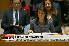 UN designates 3 vessels for illegal oil transfers to North Korea