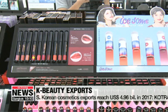 K-beauty exports quadruple in four years to almost US$ 5 bil. in 2017 with more demand from Asian markets