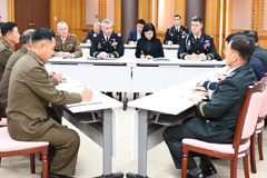 Military officials from S. Korea, N. Korea and UN Command meet for second time this Monday to verify completion of demining at JSA