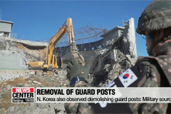 Two Koreas begin demolishing 10 guard posts each in DMZ starting Monday