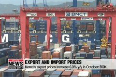 Korea's export and import prices go up in October