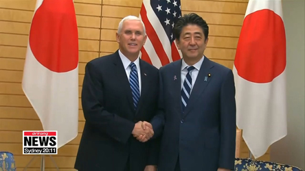 Pence, Abe agree to maintain pressure on North Korea