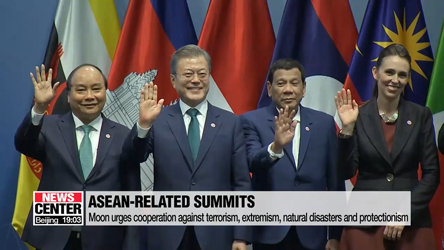 ASEAN summits: President Moon calls for cooperation for peace and prosperity