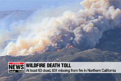 Death toll from California wild fire rises to at least 63