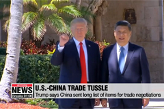 Trump says China sent long list of items for trade negotiations