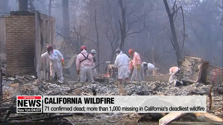 71 confirmed dead; more than 1,000 missing in California's deadliest w...
