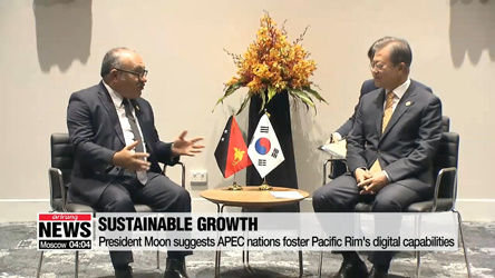 President Moon returns home from 6-day trip to ASEAN and APEC summit...