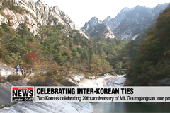 S. Korean officials head North to celebrate the 20th anniversary of Mt. Geumgangsan tour