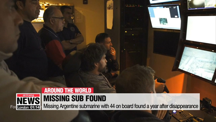 Missing Argentine submarine with 44 on board found a year after disappearance