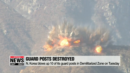 N. Korea blows up 10 of its guard posts in Demilitarized Zone