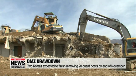 N. Korea destroys 10 of its guard posts in DMZ as part of military agreement