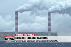 Greenhouse gas levels at new record high: WMO