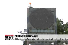 S. Korea decides Tuesday to purchase two more Israeli-made early-warning radars