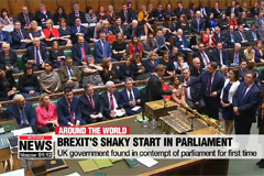 UK government found in contempt of parliament for first time