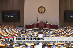 National Assembly to vote on 2019 budget plan Friday
