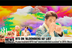 K-pop hit BTS listed on Bloomberg 50 for 2018 accomplishments
