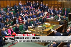 """Theresa May says Brexit deal defeat could bring """"grave uncertainty"""" for Britain"""