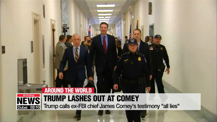 "Trump calls ex-FBI chief James Comey's testimony ""all lies"""