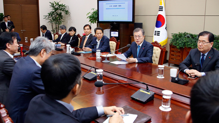 President Moon welcomes approval of 2019 budget despite missed deadline