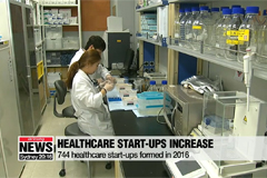S. Korean healthcare start-ups increase by 744 in 2016, total numbers of businesses reach more than 4,000
