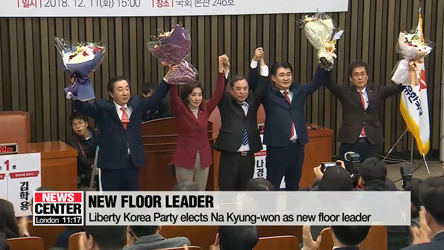 Main opposition Liberty Korea Party elects Na Kyung-won as new floor leader
