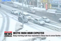 Busy morning rush hour expected in Seoul due to snow flurries